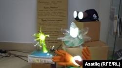 Күргәзмәдә нанотехнология кулланып эшләнгән тауарлар күрсәтелде