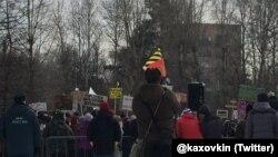 Митинг в защиту одного из московских парков