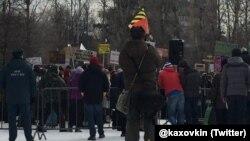 """Митинг в защиту парка """"Торфянка"""". 21 февраля 2016 года"""