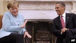 Барак Обама и Ангела Меркел