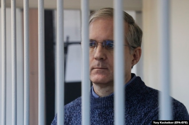 Paul Whelan attends a court hearing in Moscow in October last year.