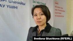 Мәслихат сайлауынан шеттетілген астаналық Аида Жексенова. Астана, 10 наурыз 2016 жыл.
