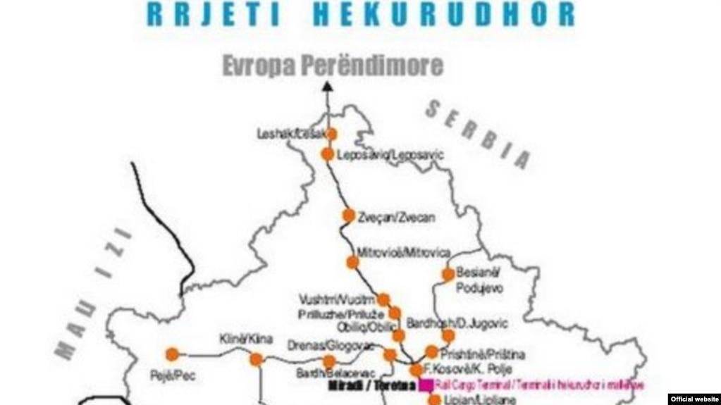 mapa zeleznice srbije Železnice Srbije preuzele prugu na severu Kosova mapa zeleznice srbije