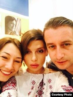 Кацярына Бабкіна, Ірэна Карпа і Сяргей Жадан на Ляйпцыгскім кніжным кірмашы