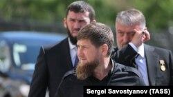 Глава ЧР Рамзан Кадыров, спикер парламента Магомед Даудов и депутат Госдумы Адам Делимханов