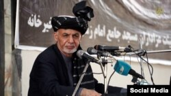 Afghan President Ashraf Ghani on October 1