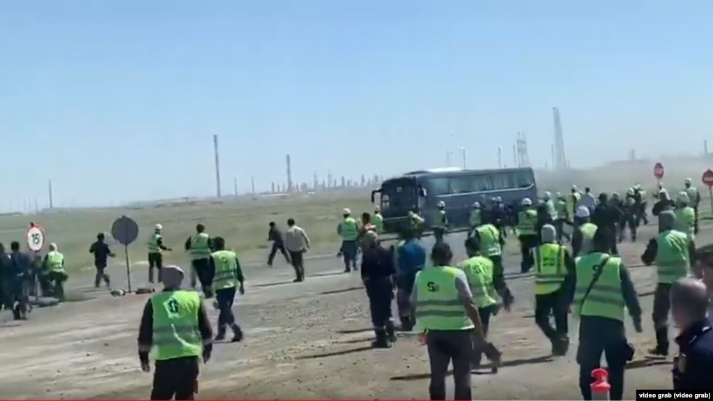 Foreign Workers At Kazakh Oil Field Evacuated After Brawl