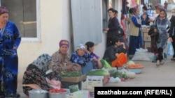 Рынок в Фарапе. Лебапский велаят Туркменистана (архивное фото)