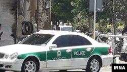 Полицейский автомобиль в Иране.