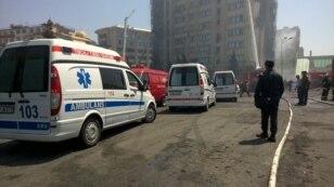 Машины скорой помощи на месте происшествия. 19 мая 2015