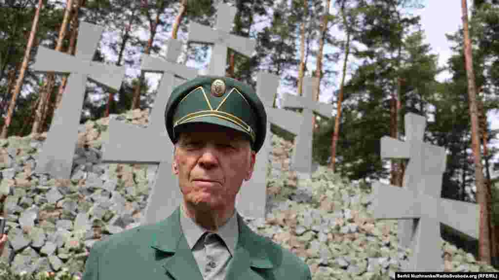 Воин УПА на чествовании жертв политических репрессий в Быковне