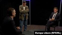 Vasile Botnaru, Vlad Țurcanu, Valeriu Munteanu la dezbaterea din studioul Europei Libere la Chișinău