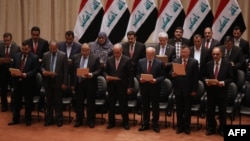 في جلسة منح الثقة لحكومة رئيس الوزراء حيدر العبادي