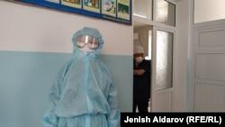Медработники одной из больниц Кыргызстана