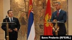 Ivica Dačić i Milo Đukanović, Podgorica, 20.9.2013.