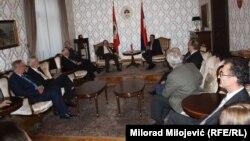 Članovi SANU i ANU RS na sastanku sa predsjednikom RS Miloradom Dodikom
