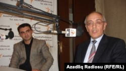 Cavid Zeynallı (solda) və Rafiq Tağı