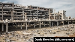 Donetsk's airport was left a shattered ruin.