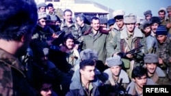 Отряд ОМОН в зоне Карабахского конфликта