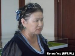 Сагира Нурбекова, бывший председатель Конфедерации независимых профсоюзов Казахстана. Шымкент, 25 мая 2016 года.