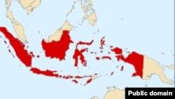 Индонезия картасы. (Көрнекі сурет.)