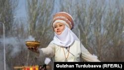 Бишкекте белгиленген Нооруз майрамынан бир көрүнүш. (Фото архивден, 2019-жыл 21-март)