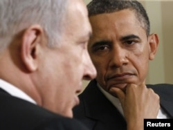 Kryeministri izraelit, Benjamin Netanjahu, dhe presidenti amerikan, Barak Obama, në njërin nga takimet e tyre në Shtëpinë e Bardhë.