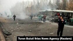 انفجار بمب در شهر قیصری در مرکز ترکیه. روز شنبه ۲۷ آذر.