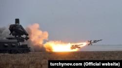 Испытания украинских ракет на военном полигоне в Одесской области, 5 декабря 2018 года