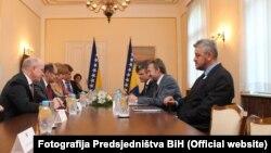 Susret njemačke delegacije na čelu sa ministrom Christianom Schmidtom i predsjedavajućeg Predsjedništva BiH Bakira Izetbegovića, Sarajevo, 13. juli 2016.