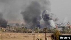 حملات به منطقه البوکمال (عکس از آرشیو)