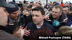 Губернатор Московской области Андрей Воробьев на встрече с жителями Волоколамска