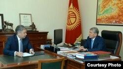 Президент Алмазбек Атамбаев ТИМ башчысы Эрлан Абдылдаевди кабыл алды