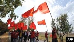 """""""Ата Мекен"""" партиясынын мүчөлөрү шайлоо алдында, 6-октябрь."""