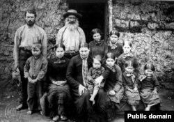 Бурская семья голландского происхождения. Трансвааль, 1886 год