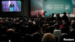 Відкриття 19-ї конференції Рамкової конвенції ООН із кліматичних змін на Національному стадіоні у Варшаві, 11 листопада 2013 року