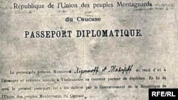 Un istoric pașaport diplomatic...