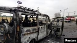 На месте взрыва в Дербенте (Дагестан, 15 февраля 2016 года)
