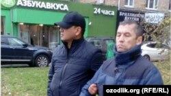 Havasbek Alijonov (o'ngda) Moskva markazida ushlandi.