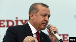 Turkish President Recep Tayyip Erdogan made his remarks at the opening of a local government office in Istanbul on May 6