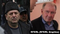 Crimean Tatar leaders Akhtem Chiygoz (left) and Ilmi Umerov (composite file photo)