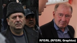Crimean Tatar leaders Akhtem Chiygoz (left) and Ilmi Umerov were released on October 25.