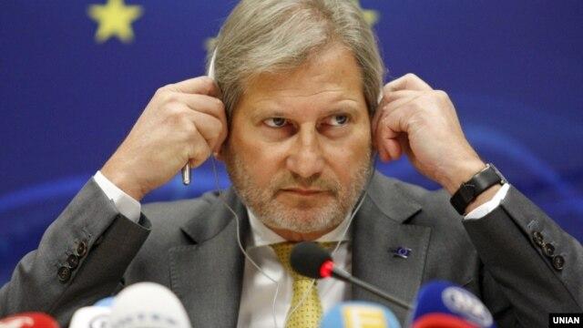 Глава ведомства ЕС по вопросам добрососедства и расширения Йоханнес Хан