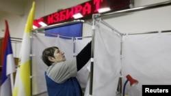 Cum se pregăteşte o secție de votare, Demonstrație pentru jurnalişti, Stavropol, 13 ianuarie 2012