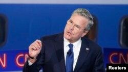 Претендент в кандидаты на пост президента США от Республиканской партии Джеб Буш.
