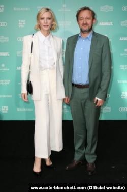 Cate Blanchett və əri Andrew Upton.
