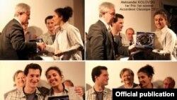 Младиот хармоникаш Александар Коловски ја прима наградата
