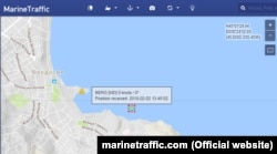 По данным Marine Traffic, судно Berg находится в порту Феодосии