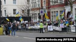 Українці Лондона протестували проти військового втручання Росії