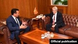 Лидерите на СДСМ и ДУИ, Зоран Заев и Али Ахмети